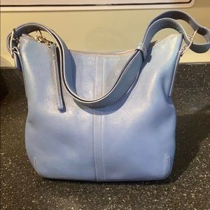 Blue leather Coach bag